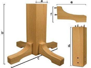 Fa stíl (antik) asztalláb tömörfából