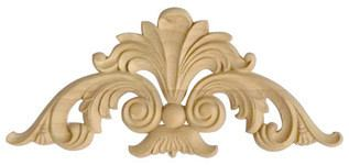 carved ornament to corners