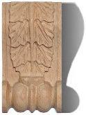 geschnitzte Zierelemente aus Holz